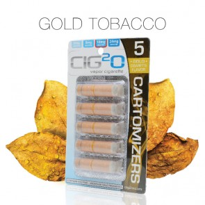 Gold Tobacco Refill Cartomizers by Cig2o (Cartomizers)