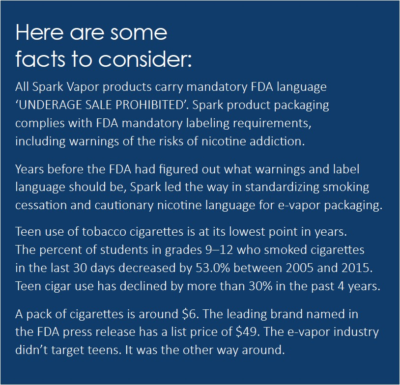 FDA: Vape facts to consider